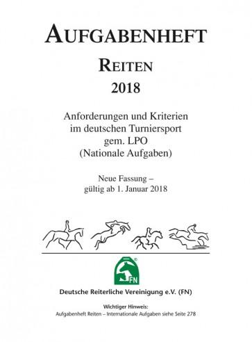 """Aufgabenheft Reiten 2018 """"Inhalt"""""""