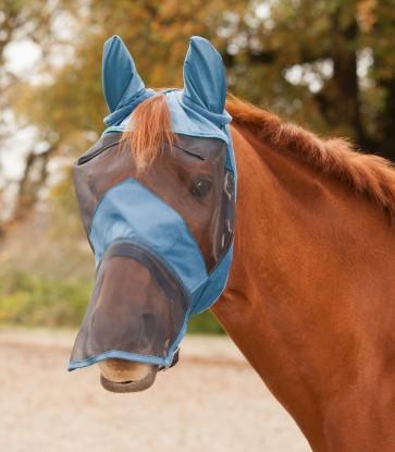 WALDHAUSEN Fliegenmaske Premium mit Ohren- und Nasenschutz