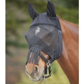 WALDHAUSEN Fliegenmaske Premium mit Ohrenschutz und Nasenfransen